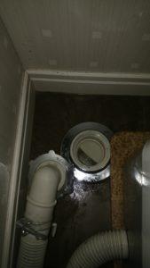 洗濯機の排水口の中
