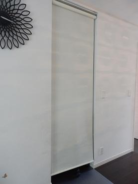 レオハウスパソコンべやのロールカーテン