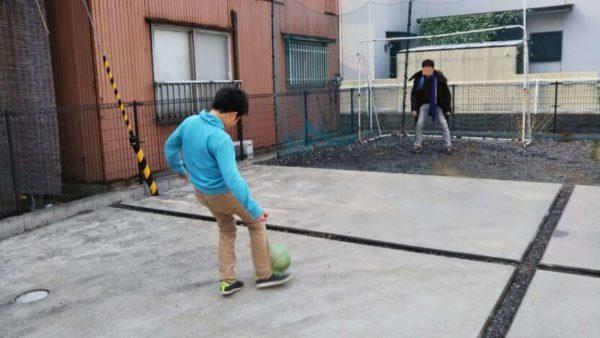 5m×3mバックネットで安全に庭で野球やサッカー
