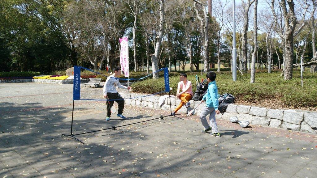 公園でcalflex カルフレックス テニス・バドミントンネット CTN-155