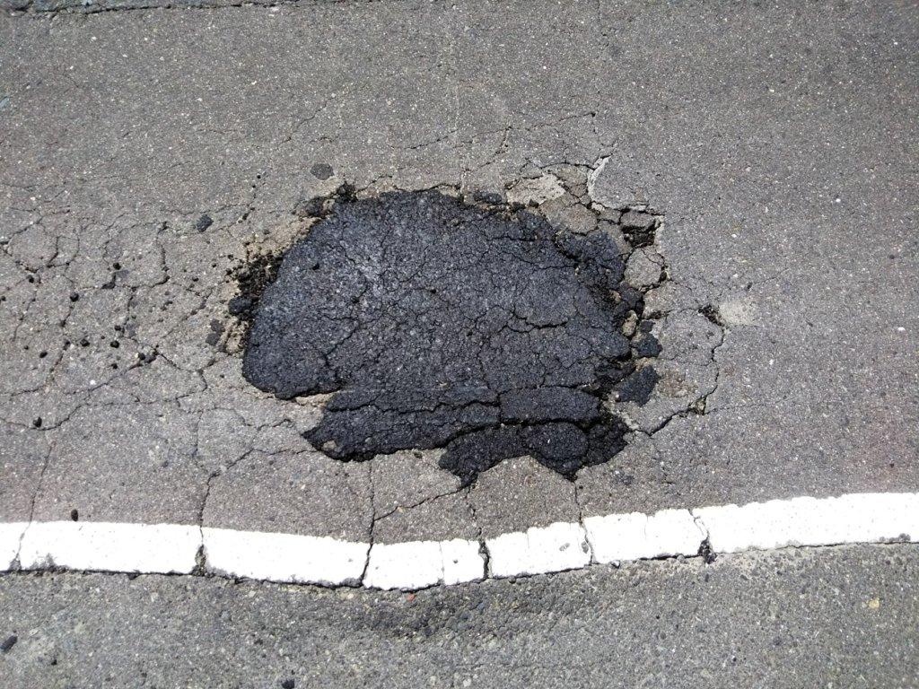 市町村道や国道破損補修