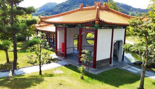 鳥取県中国庭園燕趙園の中国雑技団や遊べる水族園