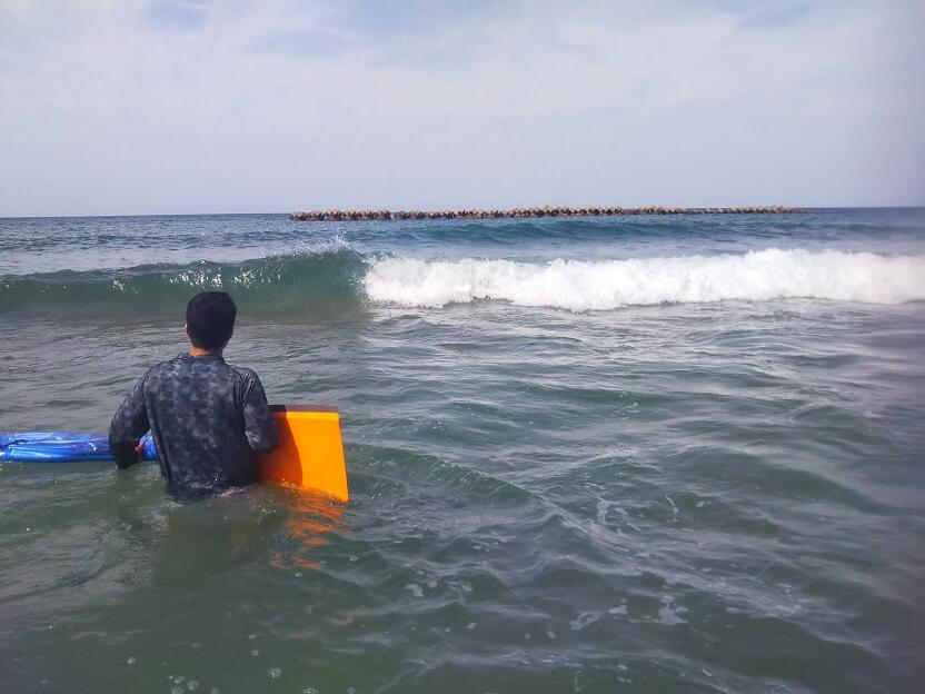 羽合海水浴場ボディーボード