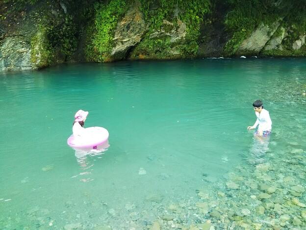 徳島県穴吹川白人の瀬