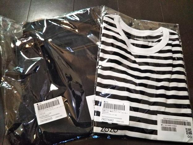 ZOZOのTシャツとデニム