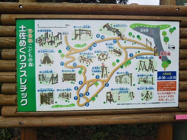高知県立月見山こどもの森のフィールドアスレチック