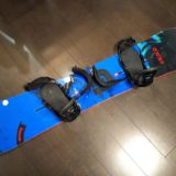 Burton バートンのスノーボード板のビンディングの角度の調整が完了