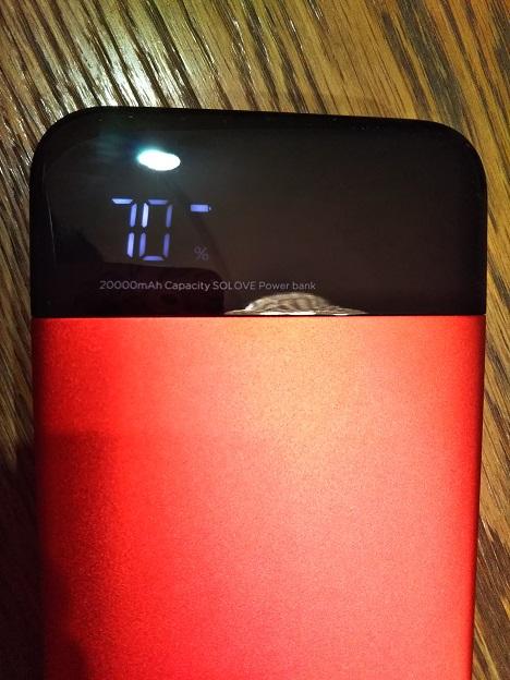 モバイルバッテリー 残量表示
