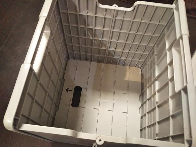 簡易ポータブルトイレ 組み立て1
