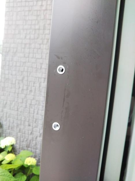 窓の鍵 取り外す